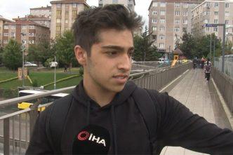 Kadıköy'de öğrencinin yağmur sonrası trafik ve otobüs isyanı